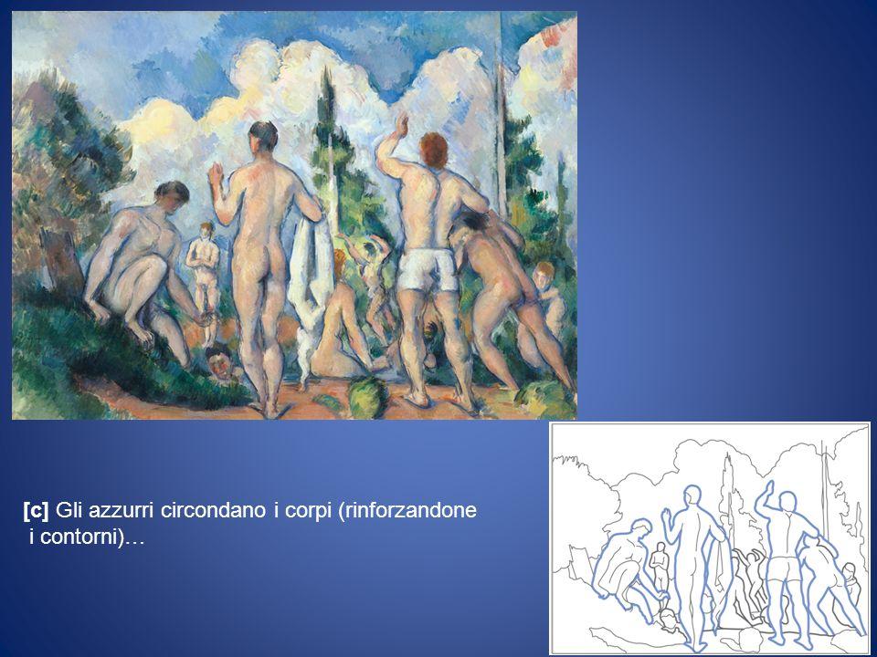 [c] Gli azzurri circondano i corpi (rinforzandone